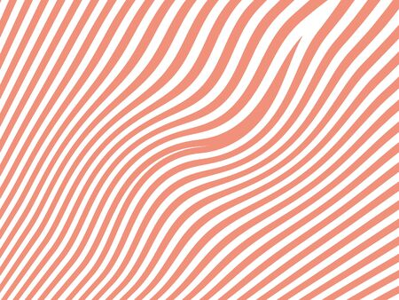bicolored: Pink thin stripes pattern on white background Stock Photo