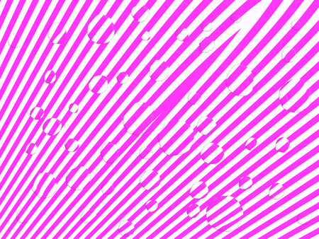 pixelation: Pink and white stripes with water drops optic effect abstract background