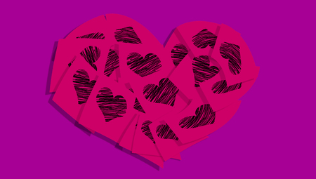 february 1: Passionate love notes heart