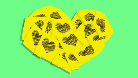 sticky notes: Sticky notes of love