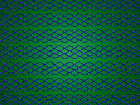 needle laces: Blue web on green abstract background
