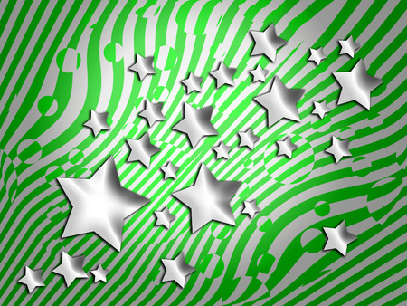 transmutation: Green striped background with stars