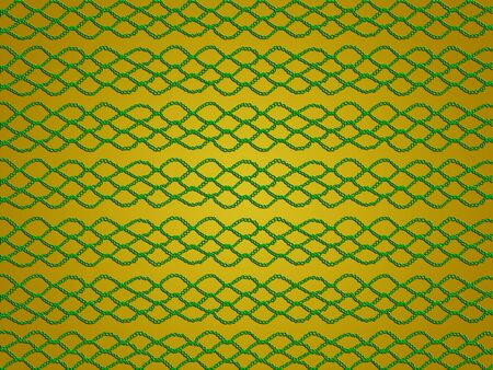 delicated: Golden abstract background with crochet web Stock Photo