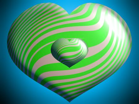 aniversaries: Heart shaped balloons with green stripes