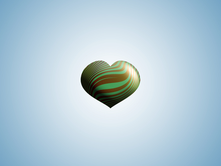 aniversaries: Heart shape balloon floating on clear sky background Stock Photo