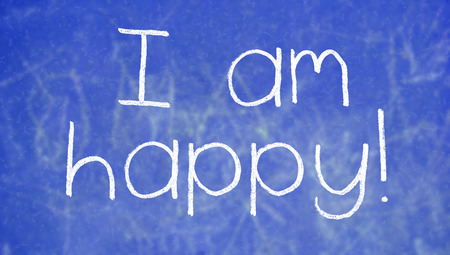 affirmation: Happy affirmation to be positive