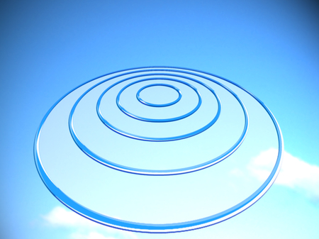 ufos: Turquoise blue background for future projection on target base circle Stock Photo