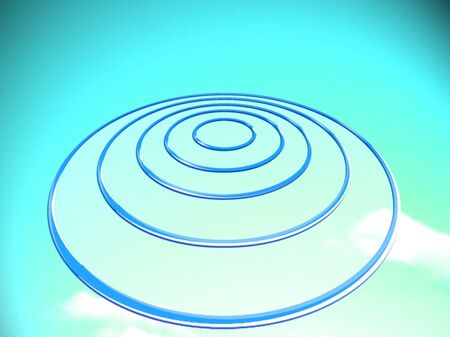 ufos: Target for goals on blue sky background to dream