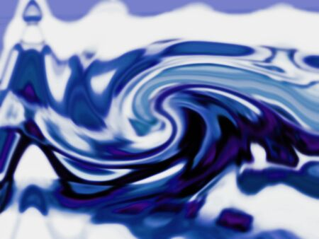 hypnotize: Rotating blue blurred curves background