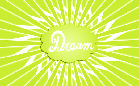 Light green color dream cloud radial background