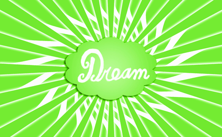 idealized: Dream green cloud radial background Stock Photo