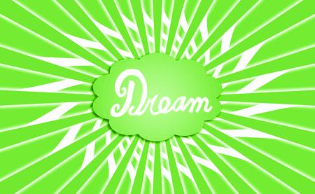 simetric: Dream green cloud radial background Stock Photo