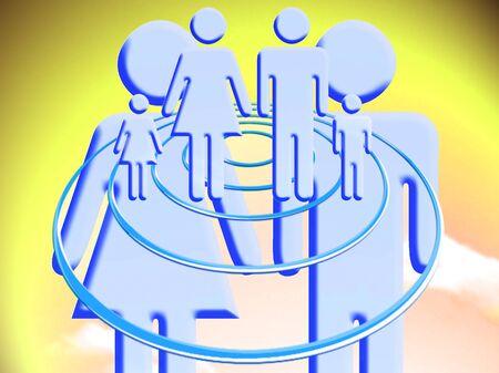 ufos: Couple creating a future family conceptual stock image
