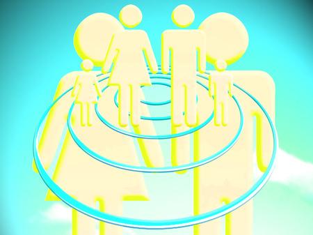 Couple planning a family conceptual illustration Reklamní fotografie