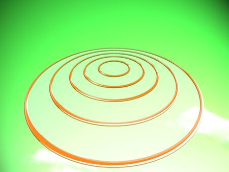 greenish: Goals target circles base on yellow background
