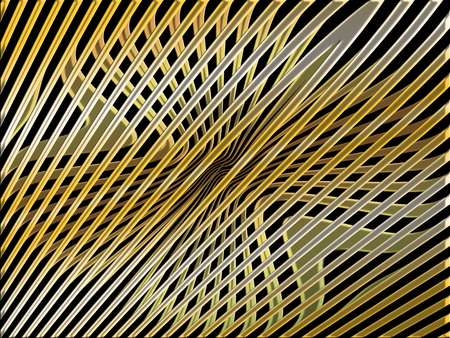 metalized: Thin golden metallic lines web abstract background