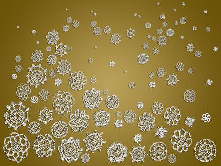 similitude: Crochet xmas snow and tree fantasy abstract background