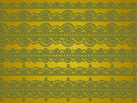 purls: Golden crochet design background of lines Stock Photo