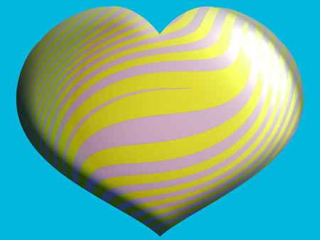 brilliant heart: Big brilliant heart balloon on blue