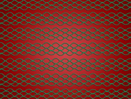 weaved: Green web lines abstract background on red