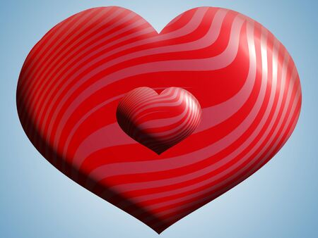 3d heart: Romantic 3D heart for valentines Stock Photo