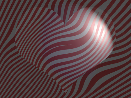 imaginarium: Striped background with subtle heart for valentines