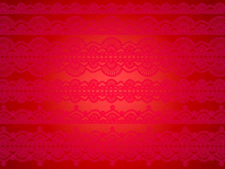 needle laces: Subtle vintage design on red delicacy abstract background Stock Photo