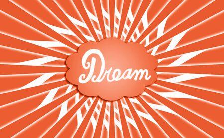 simetric: Orange rays from dream cloud background