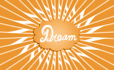 idealized: Golden dreams cloud radial background