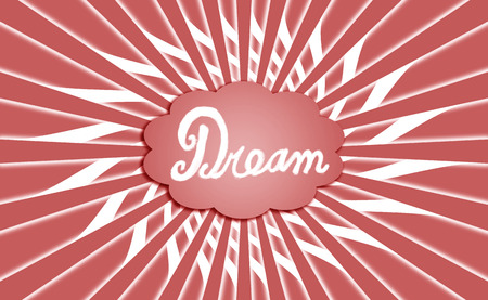idealized: Dream on vintage style radial cloud background Stock Photo