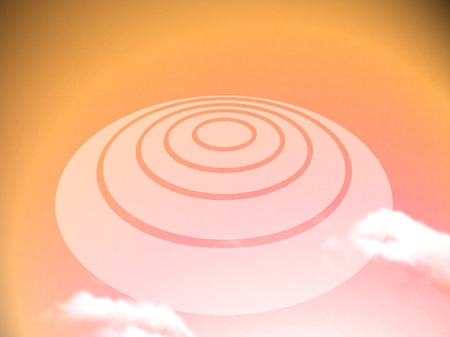 ufos: UFO camouflage at sunset orange sky light