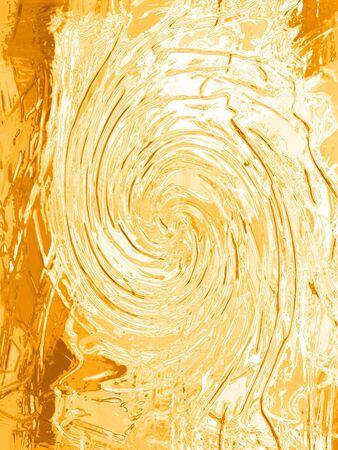 ochre: Ochre painting gesso texture spiral background