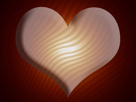 imaginarium: 3D heart striped abstract background