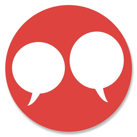 hole in one: Red couples chat circular web button