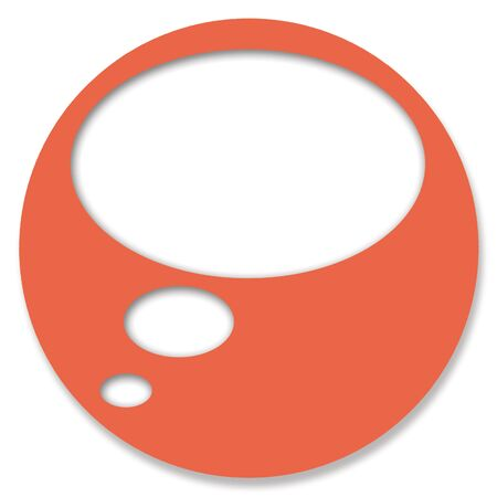 chats: Orange circular chat web button with empty baubble