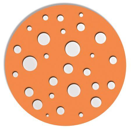 button mushroom: Orange mushroom with white spots Stock Photo