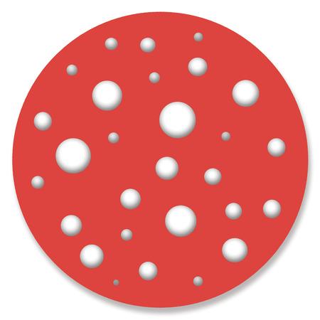 button mushroom: Red mushroom illustration with white dots Stock Photo