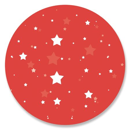 red circle: Red circle with stars