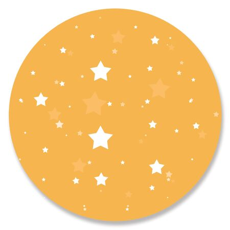 hole in one: Yellow circular sky with stars