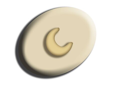 comfits: Oval white chocolate candy with cashew nut