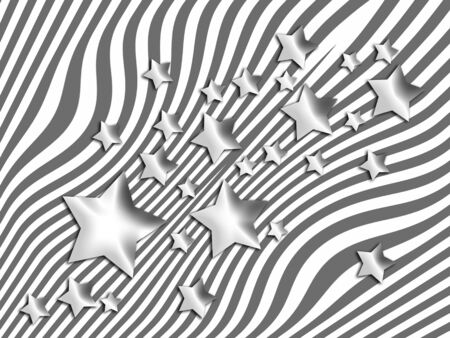 transmutation: Stars and lines abstract backdrop Stock Photo
