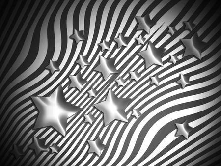 transmutation: Stars on stripes background