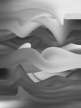 bn: Gray curved lines blurs abstract background Stock Photo