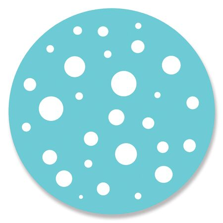 spotted: Spotted blue circle Stock Photo