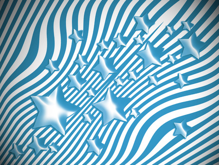 transmutation: Blue stars and stripes background Stock Photo