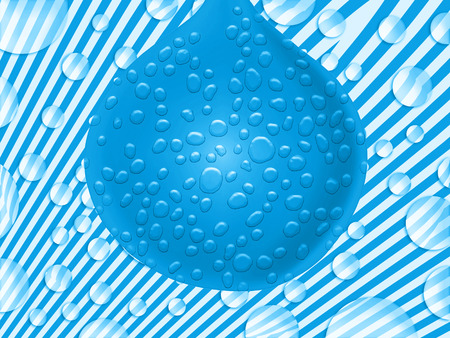 sweaty: Blue balloon on fantastic background Stock Photo