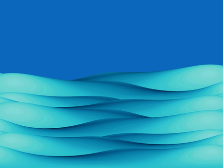 clean sky: Blue abstract background of sea water eaves illustration under clean sky Stock Photo