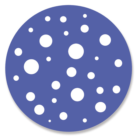 button mushroom: White dots in blue circle Stock Photo