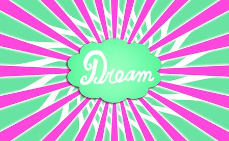 idealized: Green dream cloud with purple rays