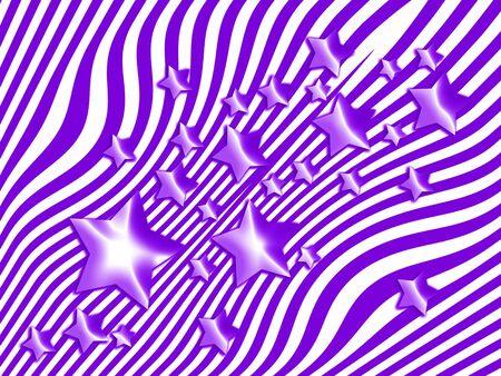 estrellas moradas: estrellas púrpuras en el fondo de las rayas
